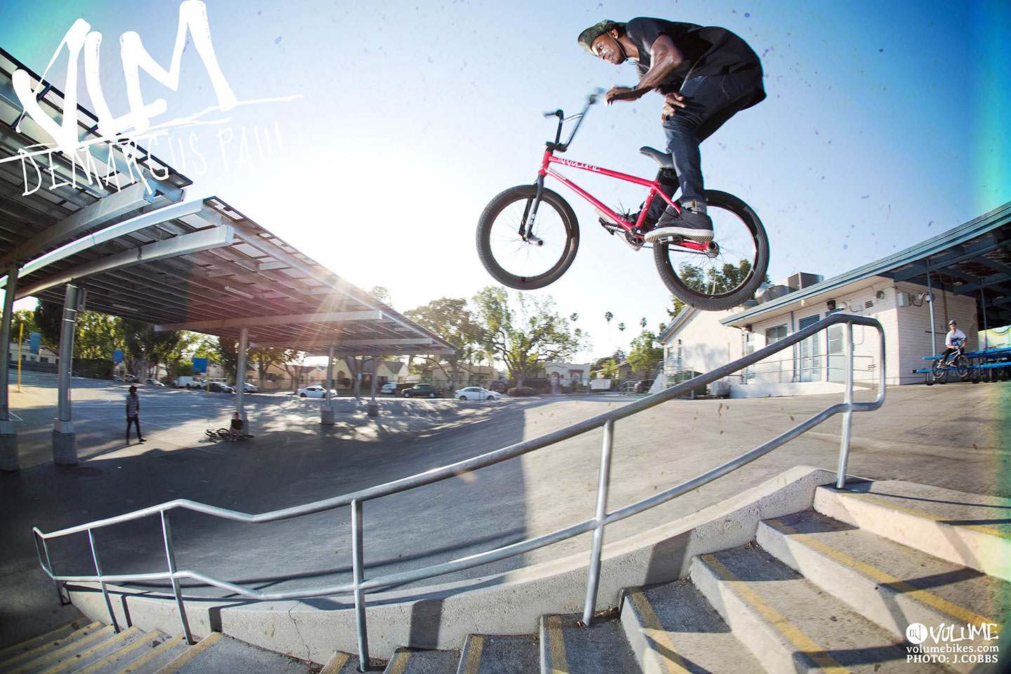 DeMarcus Paul bars over rail and into bank